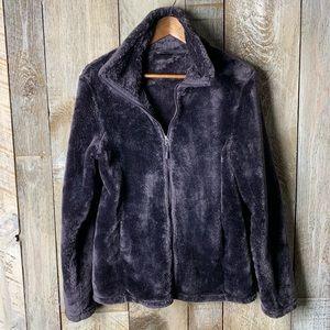 Fleece Zip Up Jacket Sz Large Purple